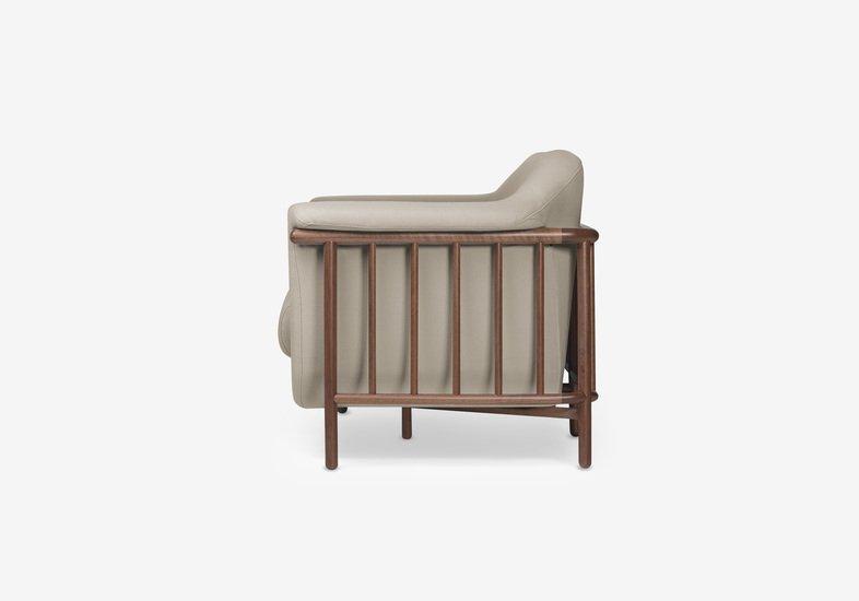 Valentim sofa   walnut   step fabric   serene beige dam treniq 2 1518696265214