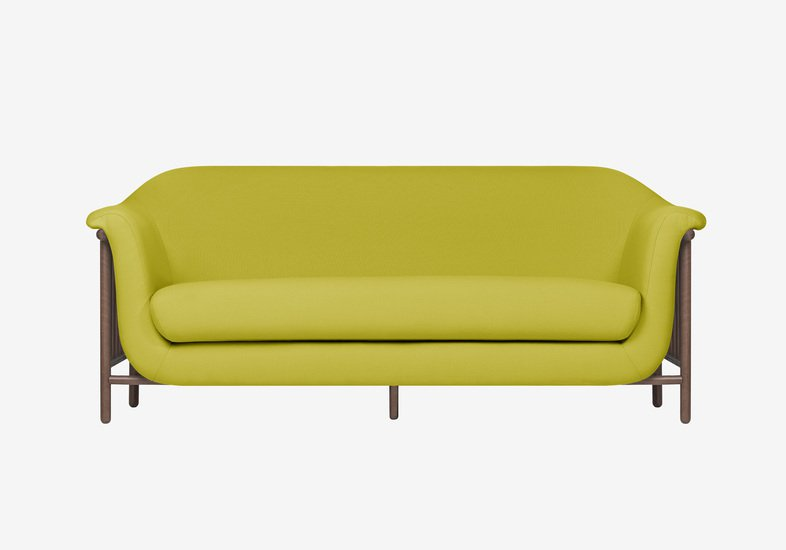 Valentim sofa   walnut   step fabric   quiet green dam treniq 2 1518696434978