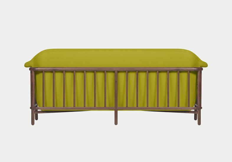 Valentim sofa   walnut   step fabric   quiet green dam treniq 2 1518696450279