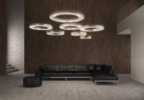 Canopus-90-Suspension-Lamp-Brushed-Satin-Gold-With-Water-Crystal_Marchetti_Treniq_0
