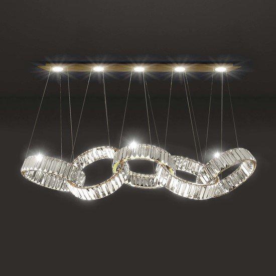 Olympia 5 light pendant lamp 24k gold marchetti treniq 1 1518777885600