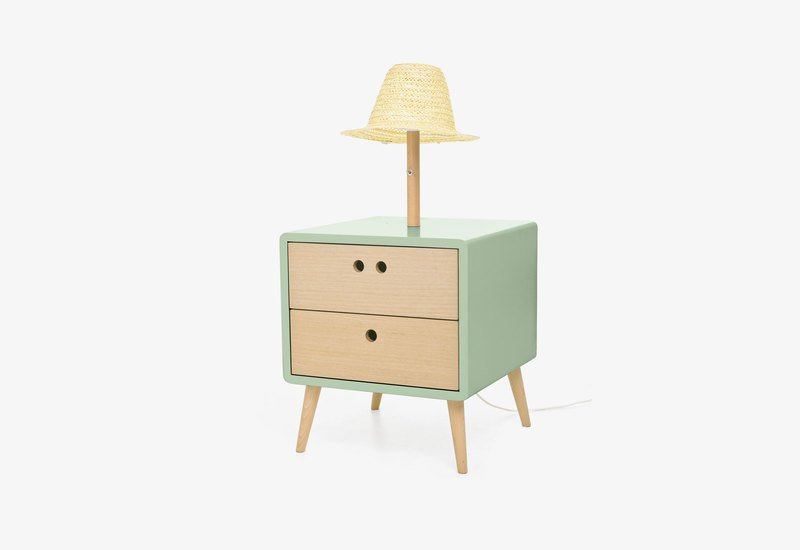 Nel bedside table with lamp   soft green dam treniq 1 1518779172154