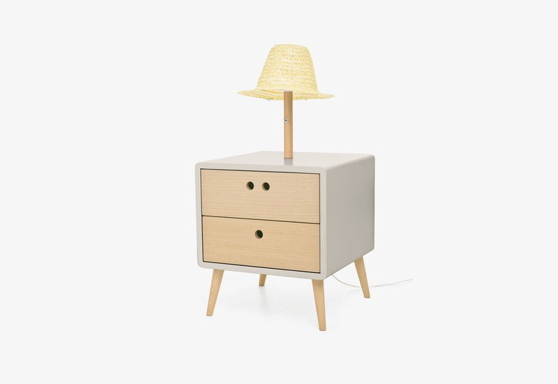 Nel bedside table with lamp   light grey dam treniq 1 1518779410371
