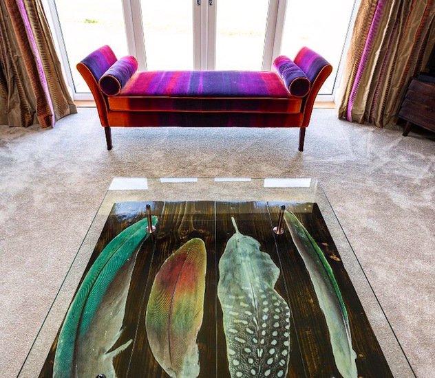 Bird feather coffee table with glass top cappa e spada bespoke furniture designs treniq 1 1518804913440
