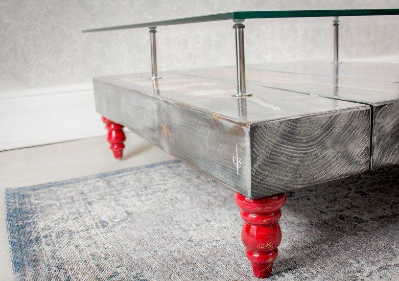 Grey wash bird feather coffee table with glass top cappa e spada bespoke furniture designs treniq 1 1518805288543