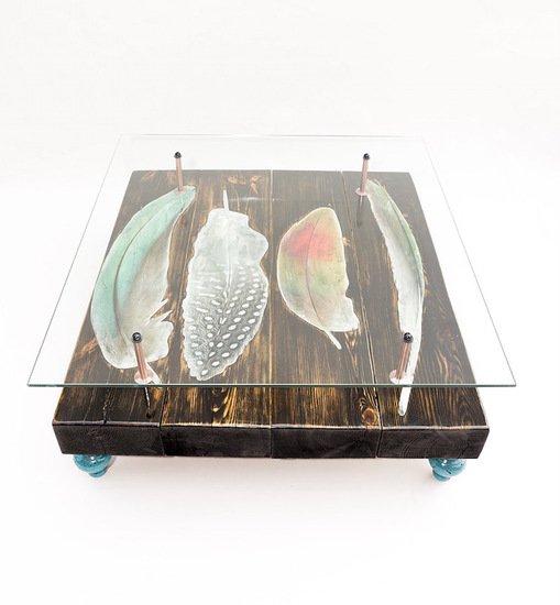 Bird feather coffee table with glass top cappa e spada bespoke furniture designs treniq 5 1518805432168