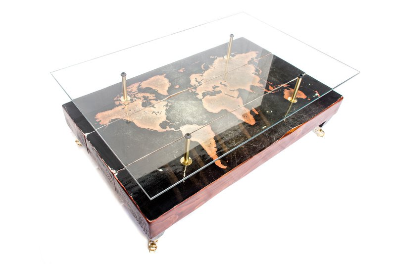 Antique World Map Coffee Table on nautical map table, materia table, people table, diy jigsaw puzzle table, map legend table, map coffee table, world water table, old map on table, games table, judson map cocktail table, atlas coffee table, community map table, old world trunk coffee table, green table, antique map table, decoupage table, vintage map table, paris eiffel tower table, blue table, war map table,