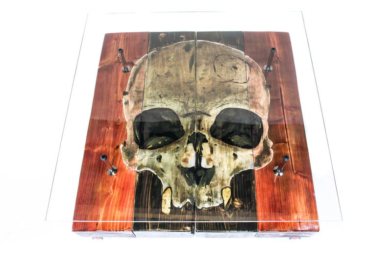 Gothic Skull Coffee Table With Glass Top Cappa E Spada Bespoke Furniture  Designs Treniq 1 1518806856332