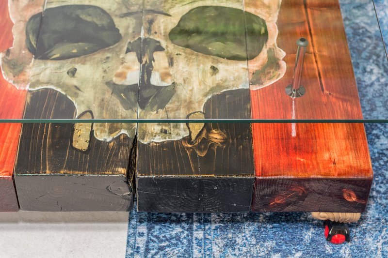 Gothic Skull Coffee Table With Glass Top Cappa E Spada Bespoke Furniture  Designs Treniq 1 1518806918038
