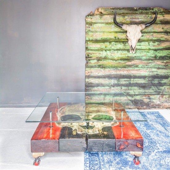 Gothic skull coffee table with glass top cappa e spada bespoke furniture designs treniq 1 1518806958910