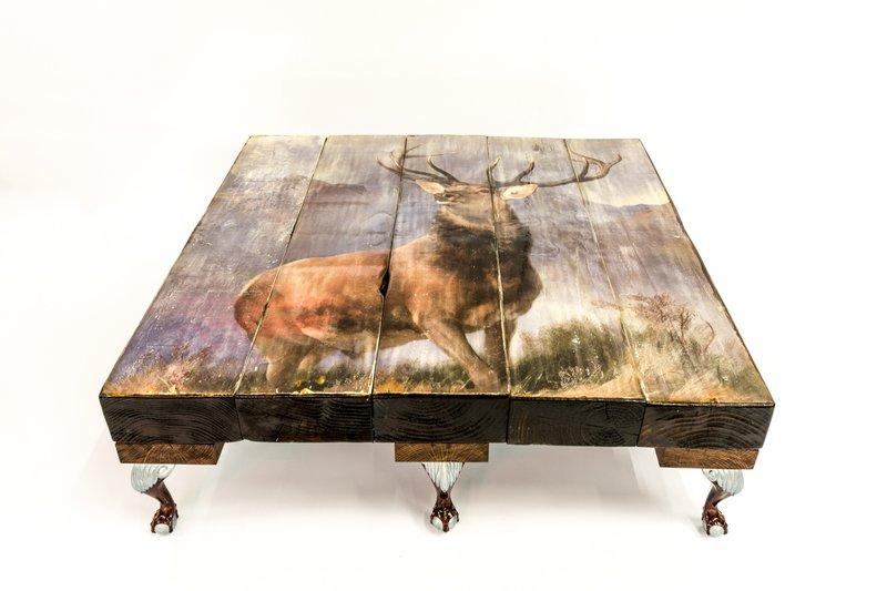 Highland stag coffee table (no glass) cappa e spada bespoke furniture designs treniq 1 1518807199587