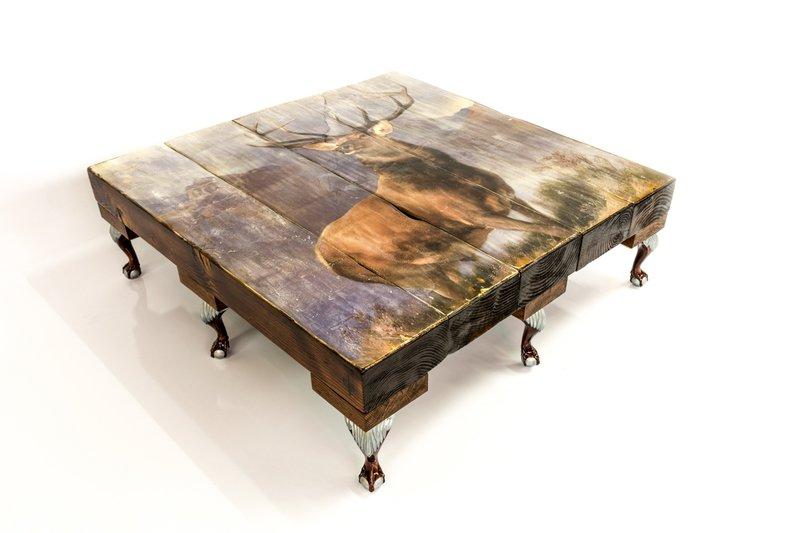 Highland stag coffee table (no glass) cappa e spada bespoke furniture designs treniq 1 1518807230832