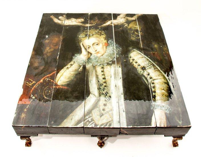 Grand 8 legged queen elizabeth i reclaimed coffee table (no glass) cappa e spada bespoke furniture designs treniq 1 1518807511911