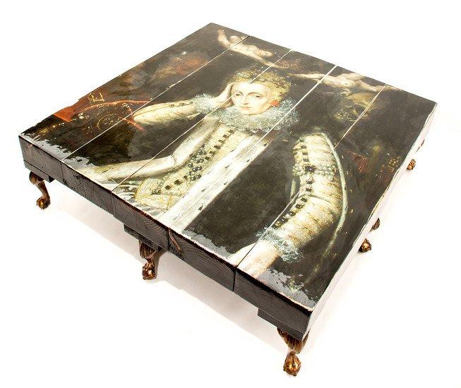 Grand 8 legged queen elizabeth i reclaimed coffee table (no glass) cappa e spada bespoke furniture designs treniq 1 1518807550116