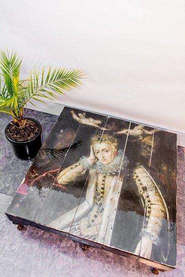 Grand 8 legged queen elizabeth i reclaimed coffee table (no glass) cappa e spada bespoke furniture designs treniq 4 1518807665589