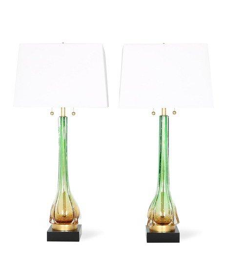 Murano green and gold lamps sergio jaeger treniq 8 1518819433060