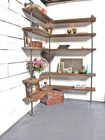 Malin Floor and Wall Mounted Corner Shelving