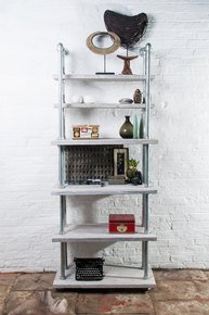 Tango Reclaimed White-washed Bookcase