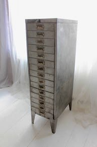 Felix Tall 1940s 15 Drawer Filing Cabinet