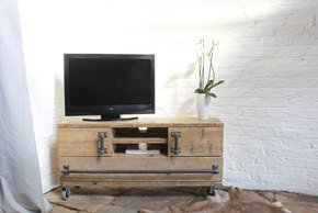 Jamila Long Low Media Unit with Cupboards