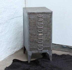 Karl Chic 1960s Ten Drawer Filing Cabinet