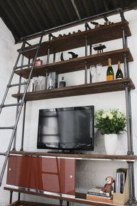 Dierdre Media Unit & Rolling Ladder