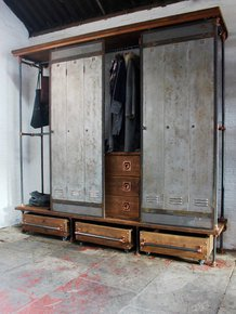 David Open Wardrobe with Sliding Doors
