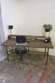 Tovey Desk with Top and Lower Under Shelves