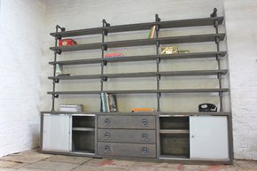 Luigi Drawer Unit with Glass Sliding Doors