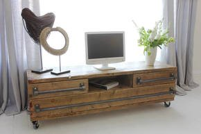 Stockton Long Low Media Unit with Drawers