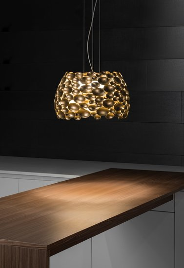 Anish small suspension lamp gold leaf terzani treniq 1 1519209924867