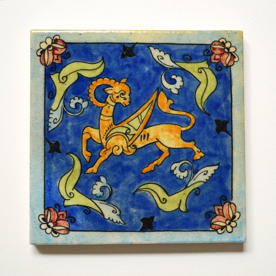 Hand painted tile no.1 wecanart treniq 1 1519506429138