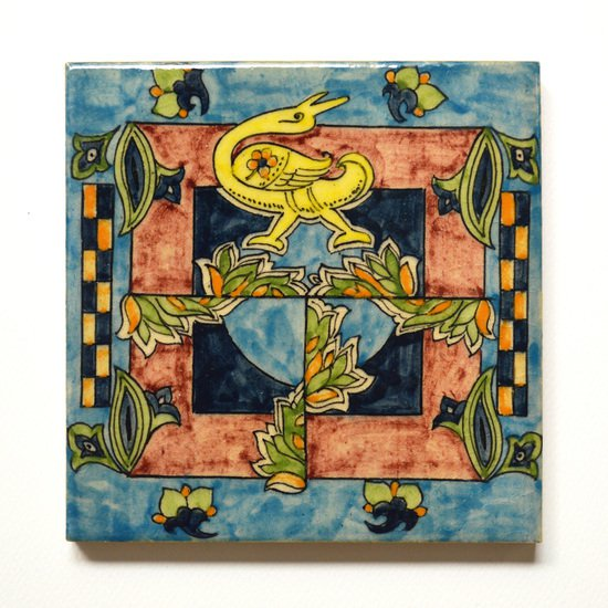 Hand painted tile no.5 wecanart treniq 1 1519759273347