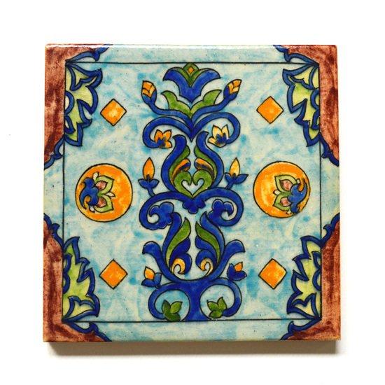 Hand painted tile no.9 wecanart treniq 1 1519759869568