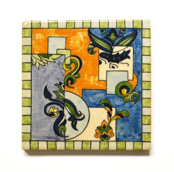 Hand painted tile no.10 wecanart treniq 1 1519760041759