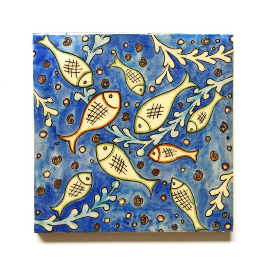 Hand painted tile no.13 wecanart treniq 1 1519760604895