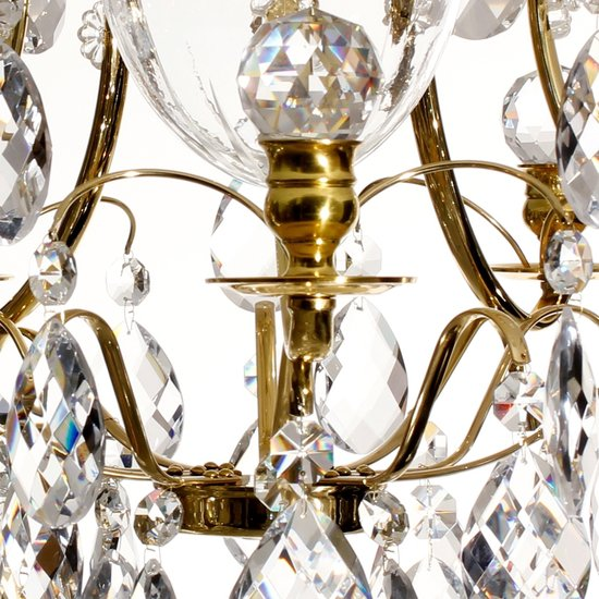 Brass bathroom chandelier with crystal shaped almonds and spears gustavian treniq 4 1519734393923