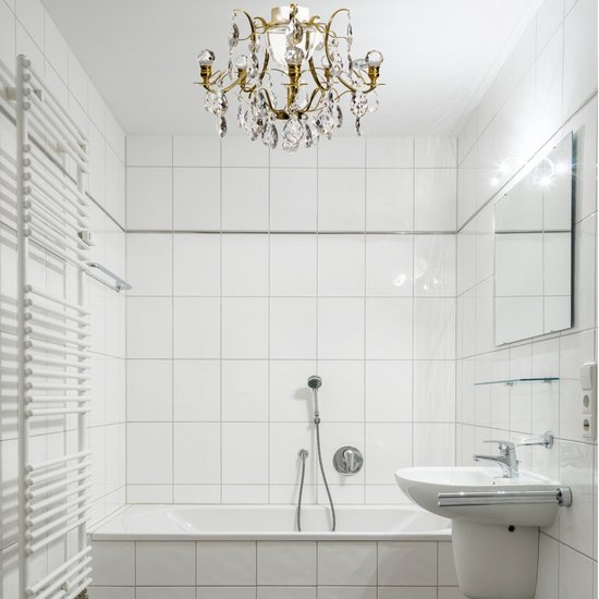 Brass bathroom chandelier with crystal shaped almonds and spears gustavian treniq 4 1519734402789
