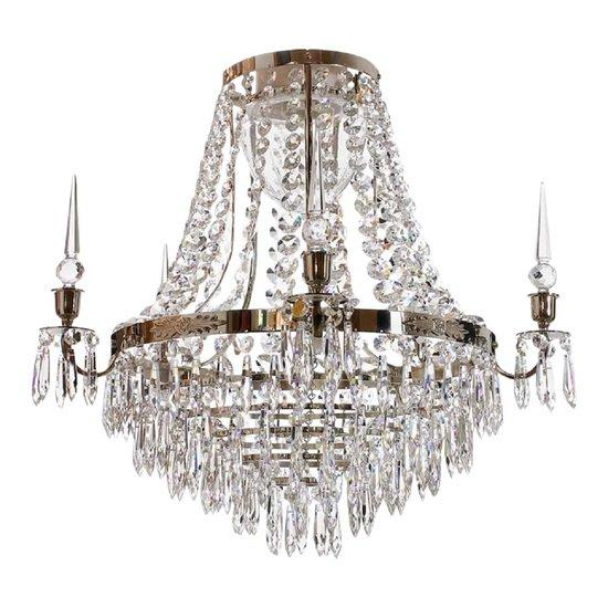 Large chrome bathroom chandelier gustavian treniq 6 1519738467531