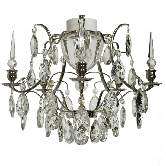 Chrome bathroom chandelier with crystal almonds and spears gustavian treniq 1 1519741464860