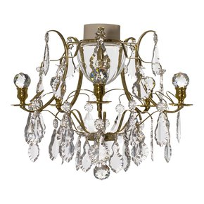 Brass-Bathroom-Chandelier-With-Crystal-Pendeloqies-And-Orbs_Gustavian-Style_Treniq_0