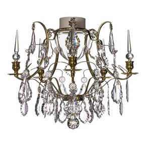 Brass-Bathroom-Chandelier-With-Crystal-Pendeloques-And-Spears_Gustavian-Style_Treniq_0