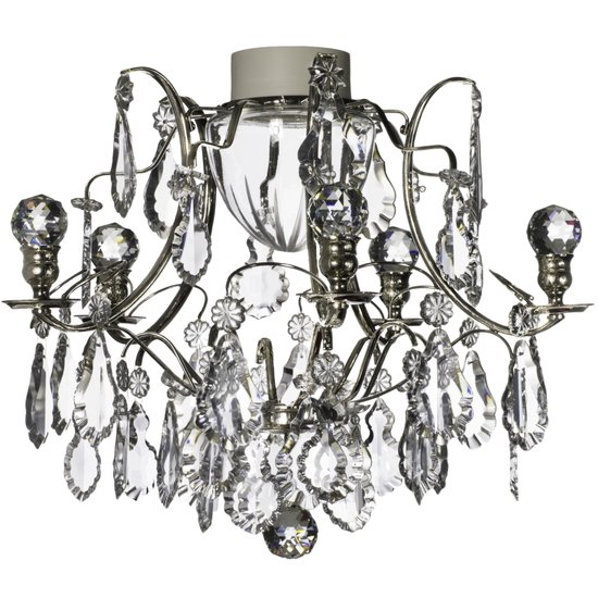 Chrome bathroom chanddelier with crystal pendeloques and orbs  gustavian treniq 1 1519745450413