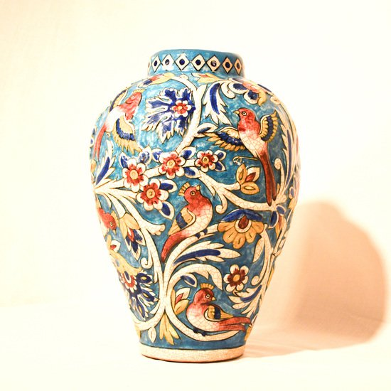 Hand painted relief vase no.1 wecanart treniq 1 1519856630941
