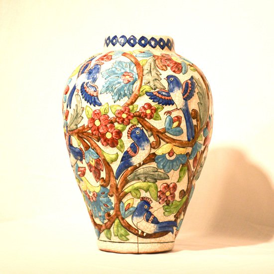 Hand painted relief vase no.2 wecanart treniq 1 1519930266942