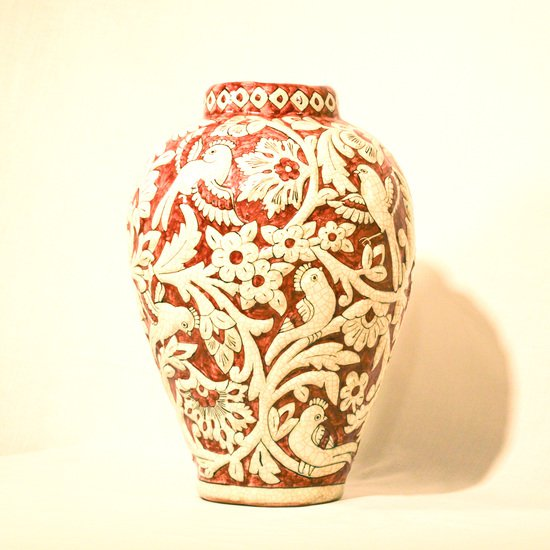 Hand painted relief vase no.3 wecanart treniq 1 1519930699788