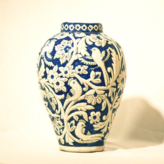 Hand painted relief vase no.4 wecanart treniq 1 1519931043733