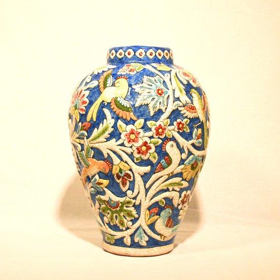 Hand painted relief vase no.5 wecanart treniq 1 1519931303235