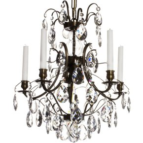 5-Arm-Crystal-Chandelier-In-Dark-Coloured-Brass-(Width:-42cm/16.5-Inches)_Gustavian_Treniq_0