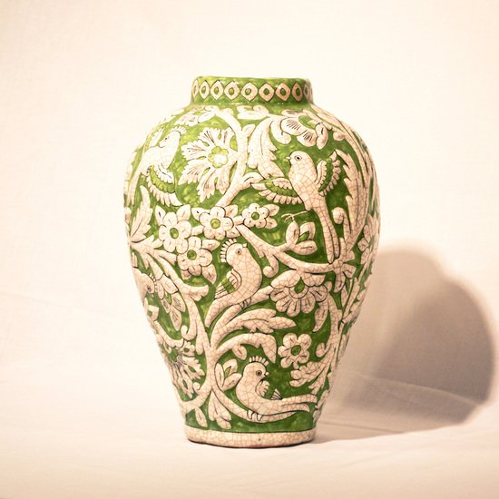 Hand painted relief vase no.6 wecanart treniq 1 1520110587974